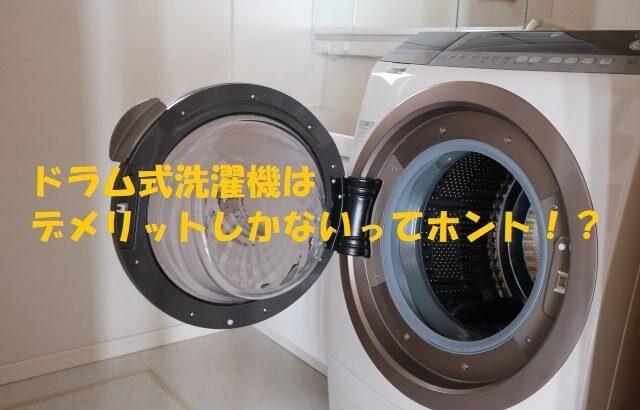 ドラム式洗濯機はデメリットしかない?二度と買わない、いらないとされる理由